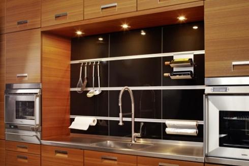 frente de cocina con deco shelf