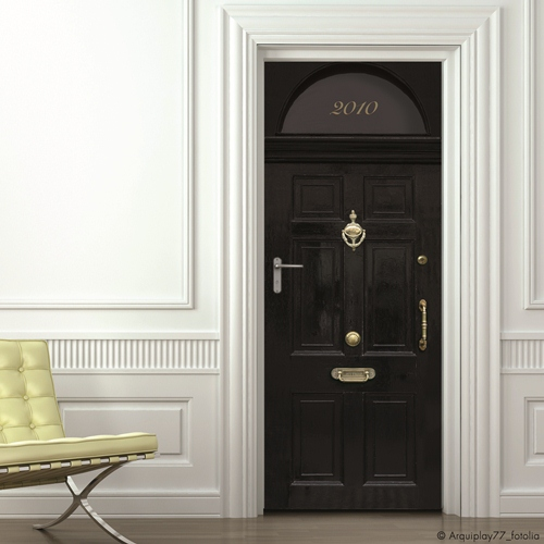 Decorar la casa f cil simp ticos vinilos para puertas - Visillos para puertas ...