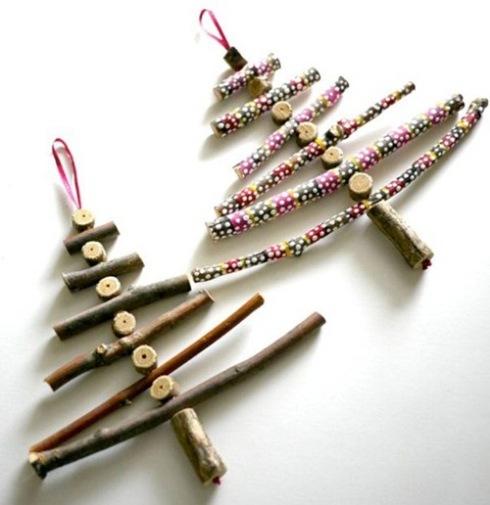 Arboles de Navidad rusticos para hacer en casa