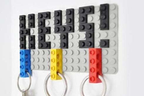 Idea para decorar con Lego (y guardar bien las llaves)