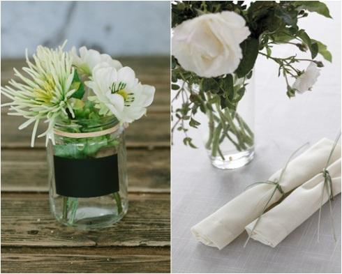 decorar con flores y vidrio reciclado 4