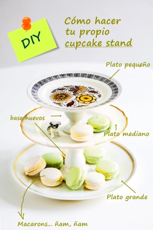 Cómo hacer tu propio cupcake stand