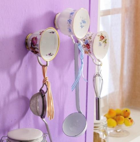 Divertida idea de decoración shabby chic para tu cocina