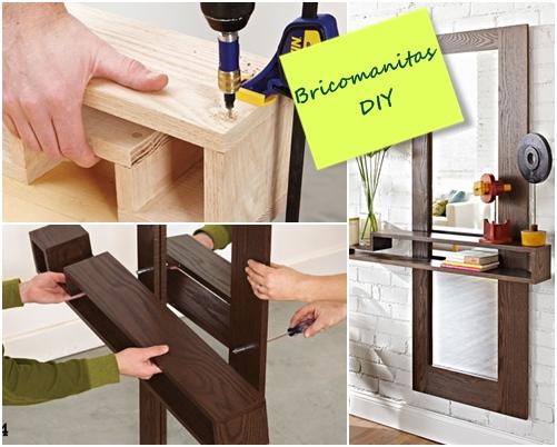 Diy mueble funcional para decorar la entrada de casa - Mueble para la entrada ...