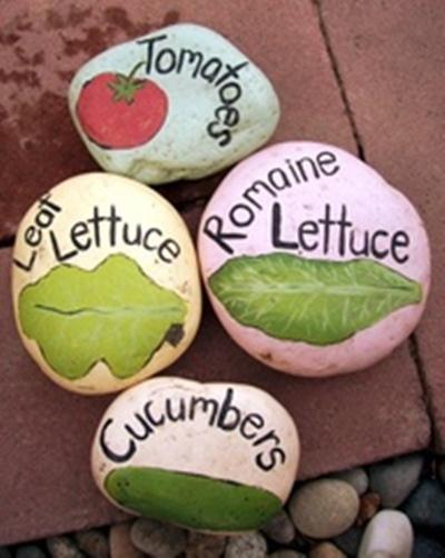 Idea para decorar con piedras (esta vez le toca al huerto urbano...)