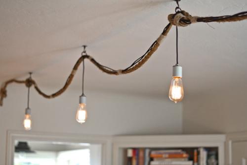 ideas de decoracion vintage con bombillas